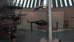 Quantico VA National Museum of the Marine Corp war aircraft 4K 080 Stock Footage