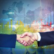International business agreement Stock Illustration