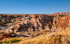 Canadian Landscape: The Badlands of Drumheller, Alberta Stock Photos