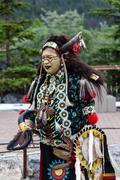 Traditional Native Blackfoot Chief - stock photo