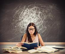 Student with doubts - stock photo