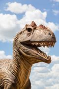 Head of a Dinosaur Stock Photos