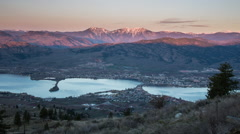 Morning sunrise at Osoyoos in British Columbia Stock Footage