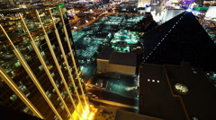 The golden front of Mandalay Bay and Delano Las Vegas Stock Footage