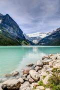 Beautiful Lake Louise in the Canadian Rockies Stock Photos