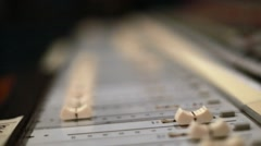 Fader of Professional Audio Console Stock Footage