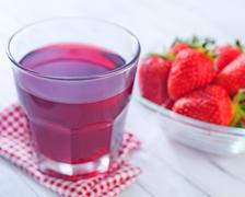 Close-up of strawberry juice Stock Photos