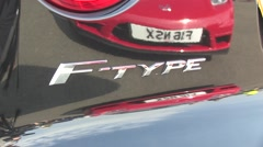 Jaguar F-type car badge Stock Footage