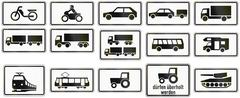 Supplemental Vehicle Types In Germany - stock illustration