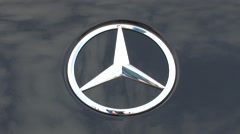 Mercedes car badge Stock Footage