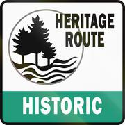 Stock Illustration of Michigan Historic Heritage Route