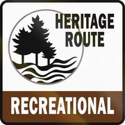 Michigan Recreational Heritage Route Stock Illustration