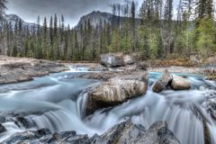 Natural Bridge at Yoho National Park in British Columbia Stock Photos