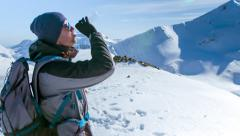 Male Water Young Man Mountain Winter Snow Bottle Healthy Outdoors Nature Stock Footage
