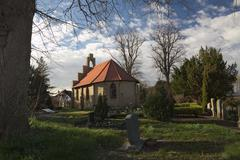 Chapel And Graveyard In Stahlbrode - stock photo