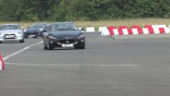 Sports cars on track. Stock Footage