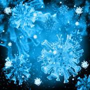 bacterial intruder cells causing sickness - stock illustration