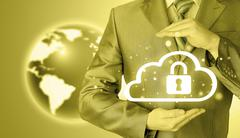 Protect cloud information data concept. Security and safety of cloud computing Kuvituskuvat