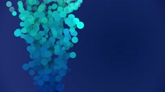 4k 3d bubbles techy motion background Stock Footage