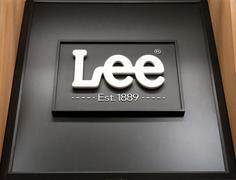 Lee Jeans Sign and Logo - stock photo