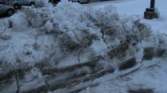 Suburban traffic-winter Stock Footage