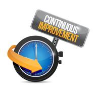 continuous improvement time sign concept - stock illustration
