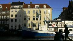 Nyhavn Colored Houses Stock Footage
