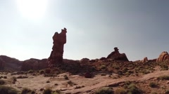 Desolate landscape in Arches National Park Stock Footage
