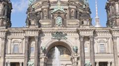 Berlin cathedral tilt close up 4k Stock Footage