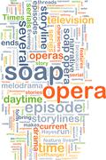 soap opera wordcloud concept illustration - stock illustration