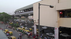 Street view from MG Road station, Delhi Metro Stock Footage