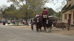 Colonial Williamsburg Virginia tourist historic horse carriage 4K 027 Stock Footage
