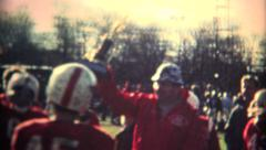 (8mm Vintage) Proud Coach Wins Trophy Stock Footage