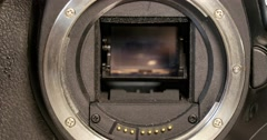 Dslr Camera Mirror 4k - stock footage