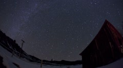 Star Time Lapse with Barn Stock Footage