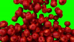 Apples red fill screen transition composite overlay element - stock footage