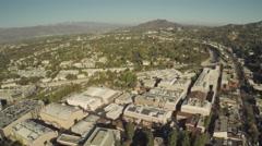 Aerial Shot of Studio City Stock Footage