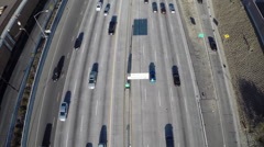 Aerial Shot of Traffic on 134 Freeway Stock Footage