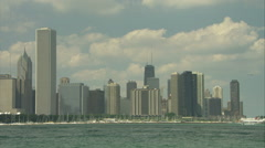 Chicago skyline - pan from right to left (mute) Stock Footage