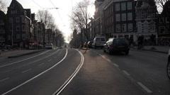 Amsterdam -  Jordaan Neighborhood Street Scene Stock Footage