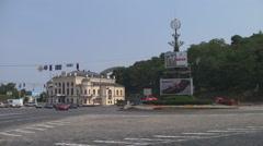 UKRAINE. KIEV. AUGUST 2011: European Square - stock footage