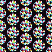 Geometric seamless pattern with gems. Vector illustration Stock Illustration