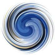 Colorful abstract icon. Dynamic flow illustration - stock illustration