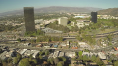 Aerial Shot of Universal City Stock Footage
