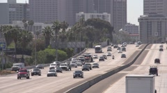 Closeup of Interstate 5 freeway in San Diego Stock Footage