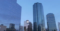 City skyscrapers on a clear, sunny afternoon. Stock Footage