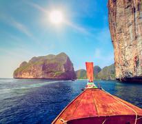 Travel to the paradise island Stock Photos