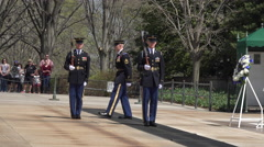 Arlington National Cemetery Changing Honor Guard 4K 019 Stock Footage