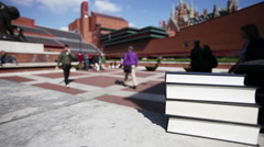 Copy space: books at the British Library Stock Footage
