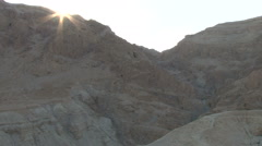 Qumran Caves - zoom into scroll cave on cliff Stock Footage